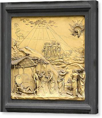 Ghiberti's Panel Of Noah Canvas Print
