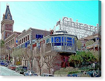 Ghirardelli Chocolate Factory San Francisco California 7d14093 Artwork Canvas Print by Wingsdomain Art and Photography