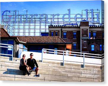 Canvas Print featuring the photograph Ghirardelli Square by Andreas Thust