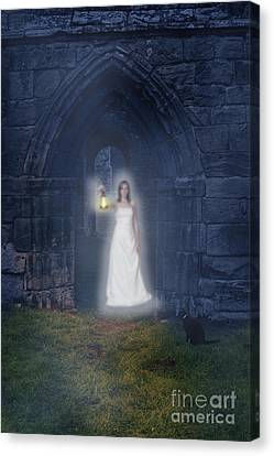 Ghostly Canvas Print - Ghost At The Abbey by Amanda Elwell