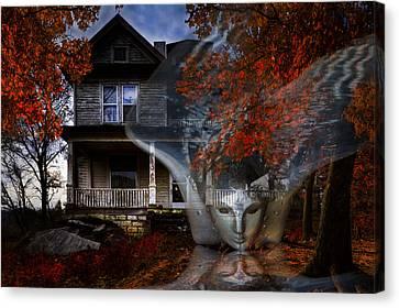 Ghost Canvas Print by Debra and Dave Vanderlaan