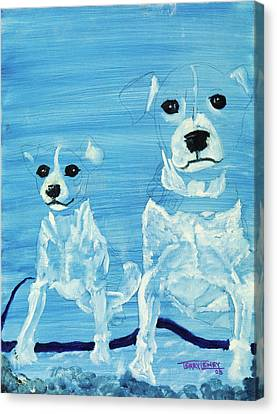 Ghost Dogs Canvas Print by Terry Lewey