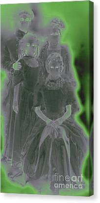 Ghost Family Portrait Canvas Print by First Star Art