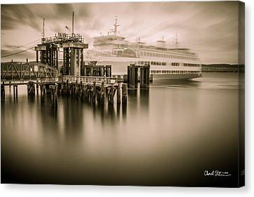Ghost Ferry Canvas Print by Charlie Duncan