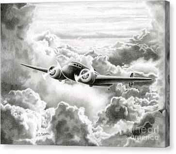 Pioneers Canvas Print - Ghost Flight- Amelia Earhart by Sarah Batalka