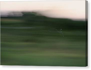Canvas Print featuring the photograph Ghost Flight - Motion Art Print by Jane Eleanor Nicholas