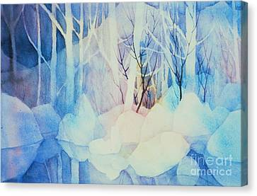 Canvas Print featuring the painting Ghost Forest by Teresa Ascone