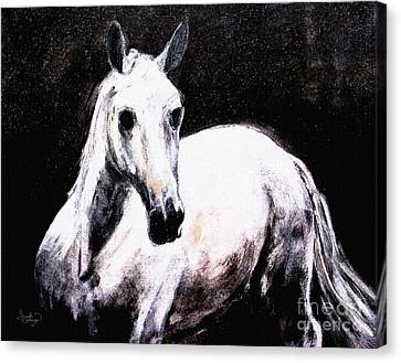 Ghost Horse Modern Painting Canvas Print by Ginette Callaway