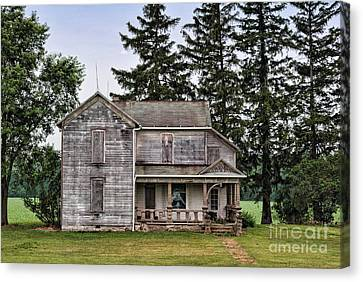 Haunted House Canvas Print - Ghost Manor by Pamela Baker