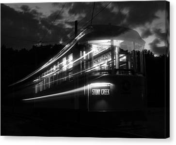 Canvas Print featuring the photograph Ghost Of Trolleys Past II by Jim Poulos