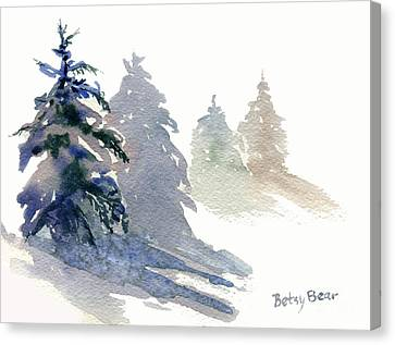 Ghost Spruce Canvas Print by Betsy Bear