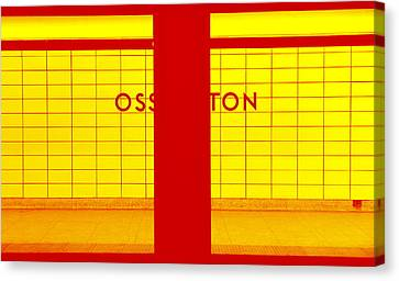 Ghost Station In Red And Yellow Canvas Print by Valentino Visentini