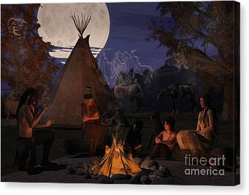 Ghost Story Canvas Print - Ghost Stories by Methune Hively