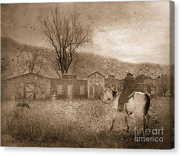 Ghost Town #2 Canvas Print by Betty LaRue