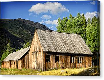 Canvas Print featuring the photograph Ghost Town Barn And Stable by Lincoln Rogers