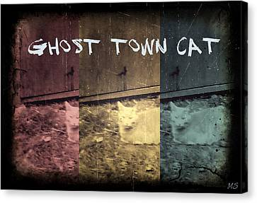 Ghost Town Cat Canvas Print by Absinthe Art By Michelle LeAnn Scott