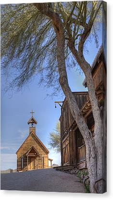Canvas Print featuring the photograph Ghost Town Chapel by Wendell Thompson