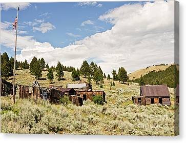 Canvas Print featuring the photograph Ghost Town In Summer by Sue Smith