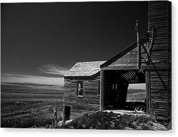 Ghost Town Okaton Sd In Bw Canvas Print