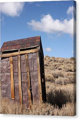 Ghost Town Outhouse Canvas Print by Art Block Collections