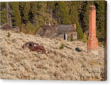 Canvas Print featuring the photograph Ghost Town Remains by Sue Smith