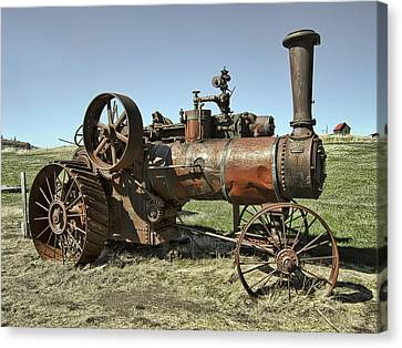 Ghost Town Steam Tractor Canvas Print by Daniel Hagerman
