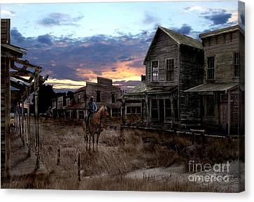 Ghost Town  Canvas Print by Tom Straub