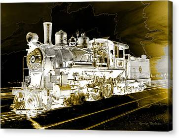 Ghost Train Canvas Print by Gunter Nezhoda