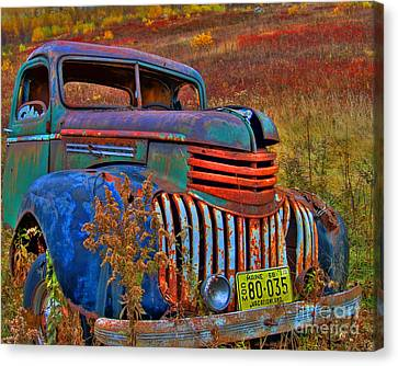 Ghost Truck Canvas Print by Alana Ranney