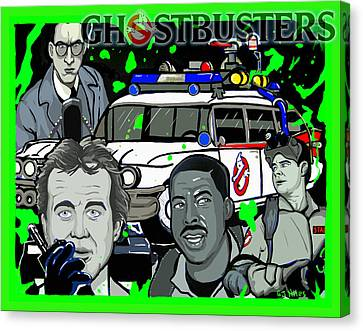 Ghostbusters Canvas Print by Gary Niles