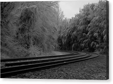 Canvas Print featuring the digital art Ghostly Curves by Kelvin Booker