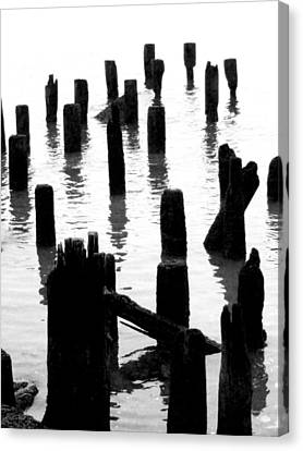 'ghostly Pilings' Canvas Print