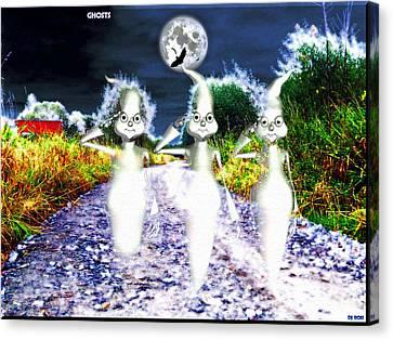 Canvas Print featuring the digital art Ghosts by Daniel Janda