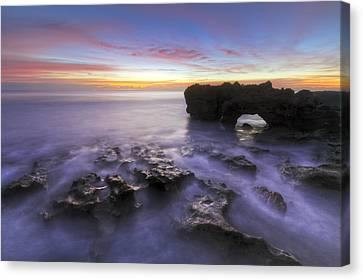 Ghosts In The Cove Canvas Print by Debra and Dave Vanderlaan