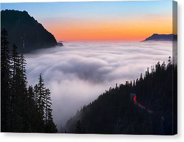 Ghosts Of Nisqually Canvas Print by Ryan Manuel