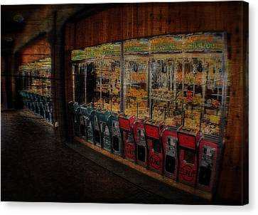 Ghosts Of The Arcades Play Here At Night Canvas Print by Doc Braham