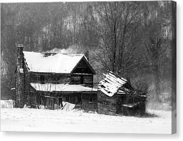 Ghosts Of Winters Past Canvas Print by John Haldane