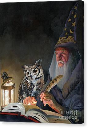 Ghostwriter Canvas Print by J W Baker