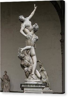 Giambologna's Rape Of The Sabine Women Canvas Print by Brian Gadsby