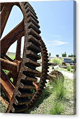 Giant Cog Canvas Print by Richard Reeve
