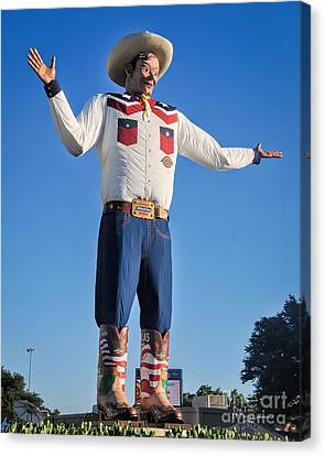 Giant Cowboy Big Tex State Fair Of Texas Canvas Print