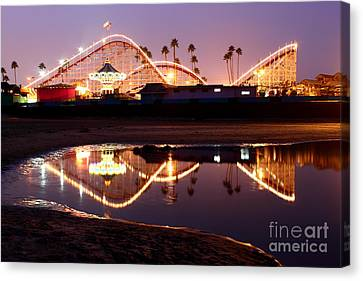 Canvas Print featuring the photograph Giant Dipper At Dusk by Theresa Ramos-DuVon