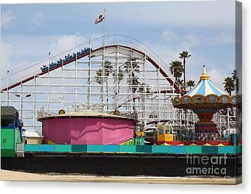 Giant Dipper At The Santa Cruz Beach Boardwalk California 5d23659 Canvas Print by Wingsdomain Art and Photography