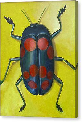 Giant Fungus Beetle Canvas Print by Laura Dozor