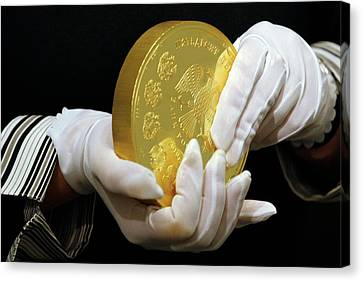Giant Gold Coin, Russia Canvas Print
