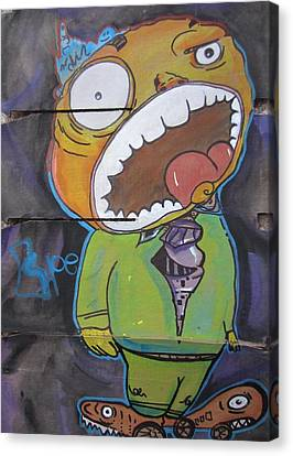 Giant Head Canvas Print by Erik Franco