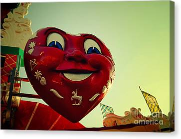 Giant Heart At The Octoberfest In Munich Canvas Print