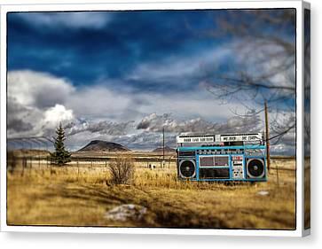 Giant Idaho Radio Tilt Shift Canvas Print by For Ninety One Days