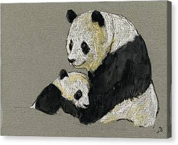 Panda Canvas Print - Giant Panda by Juan  Bosco