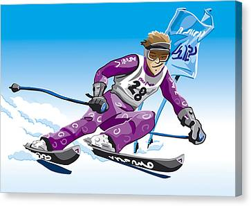 Giant Slalom Skier Winter Sport Canvas Print